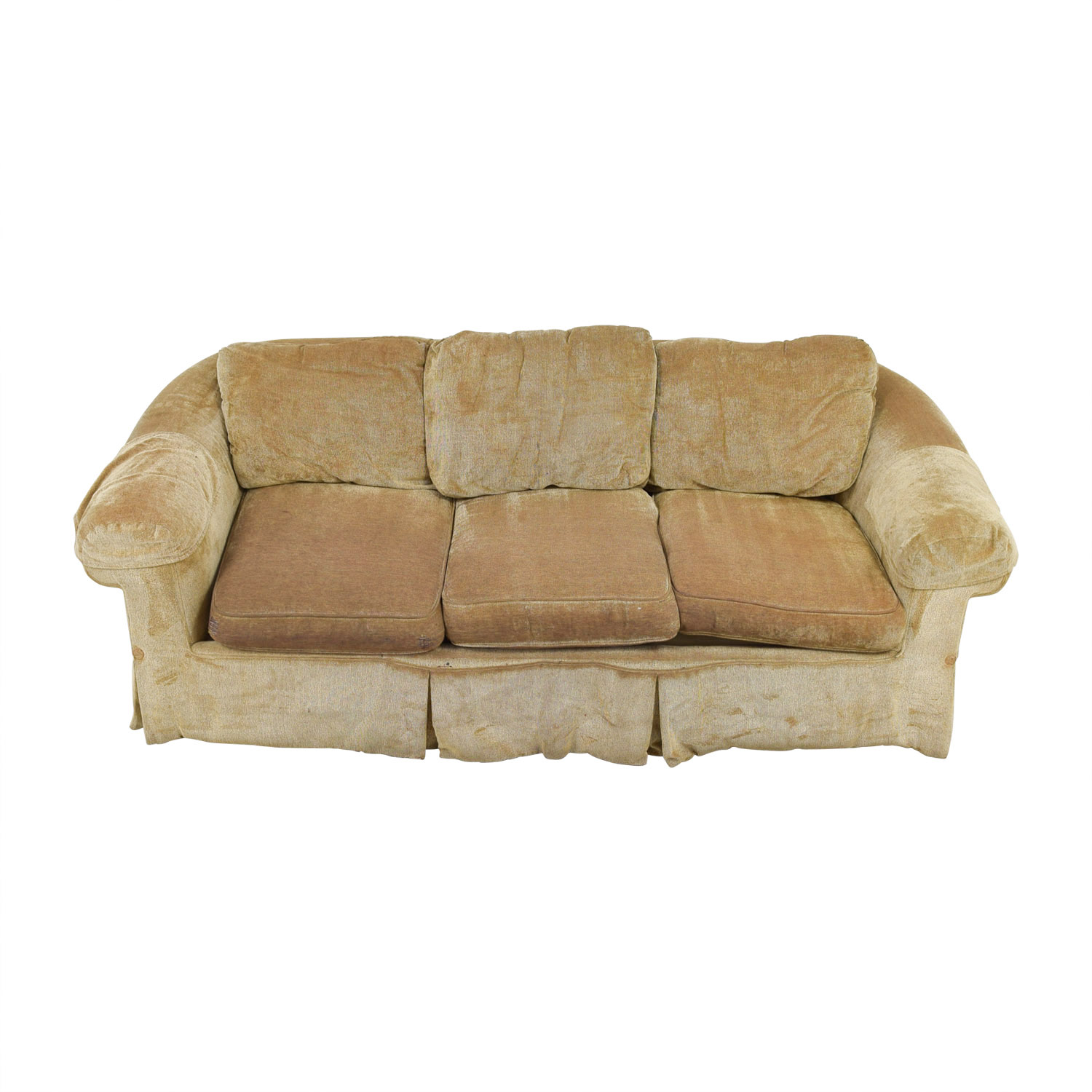 Bloomingdale's Bloomingdale's Tan Three Cushion Skirted Couch used