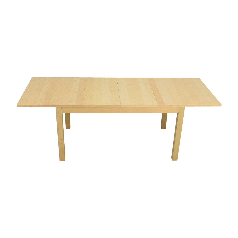 nice Bjursta Ikea Part - 8: ... shop IKEA Bjursta Beech Veneer Table with Pullout Extentions IKEA  Dinner Tables ...