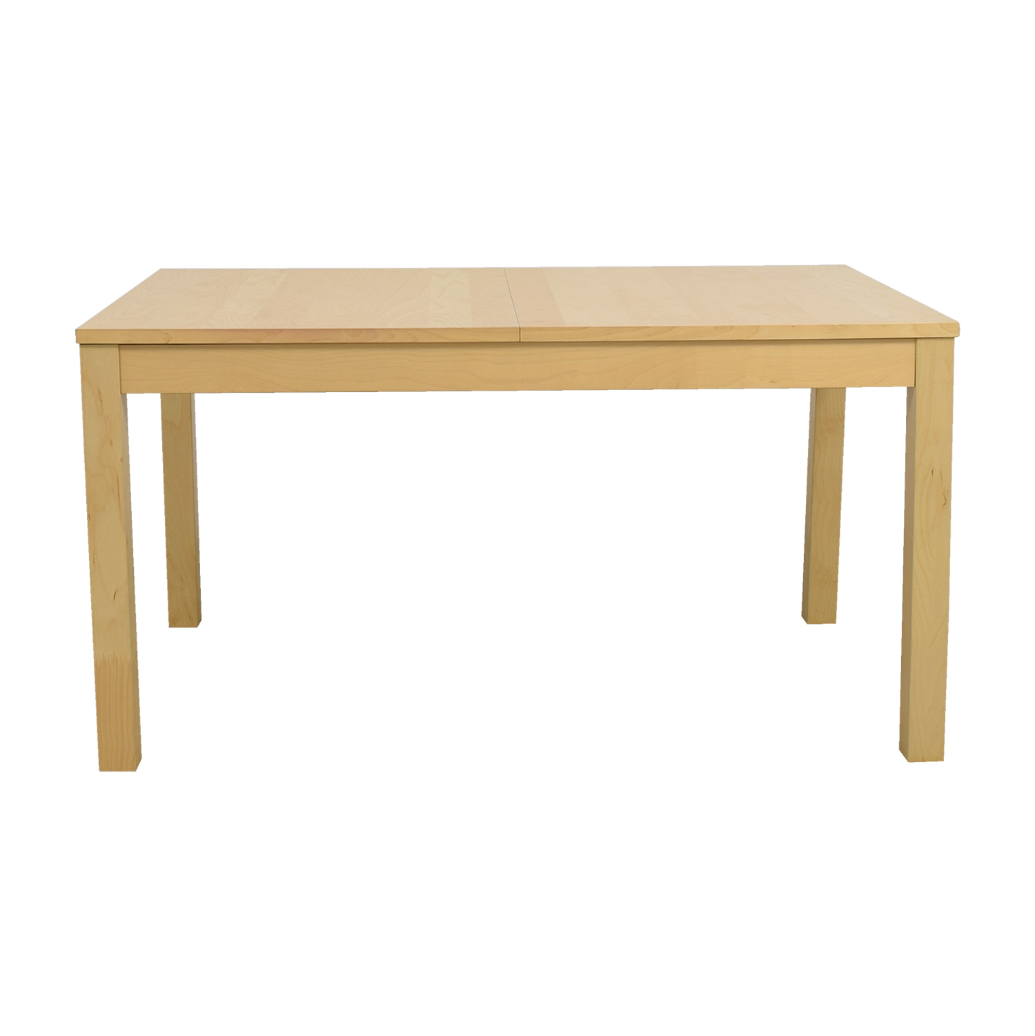 shop IKEA Bjursta Beech Veneer Table with Pullout Extentions IKEA Sofas