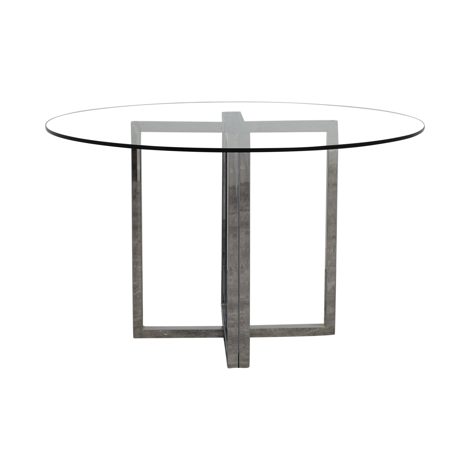 buy CB2 Silverado Glass Round Dining Table CB2 Tables