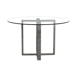 CB2 CB2 Silverado Glass Round Dining Table used