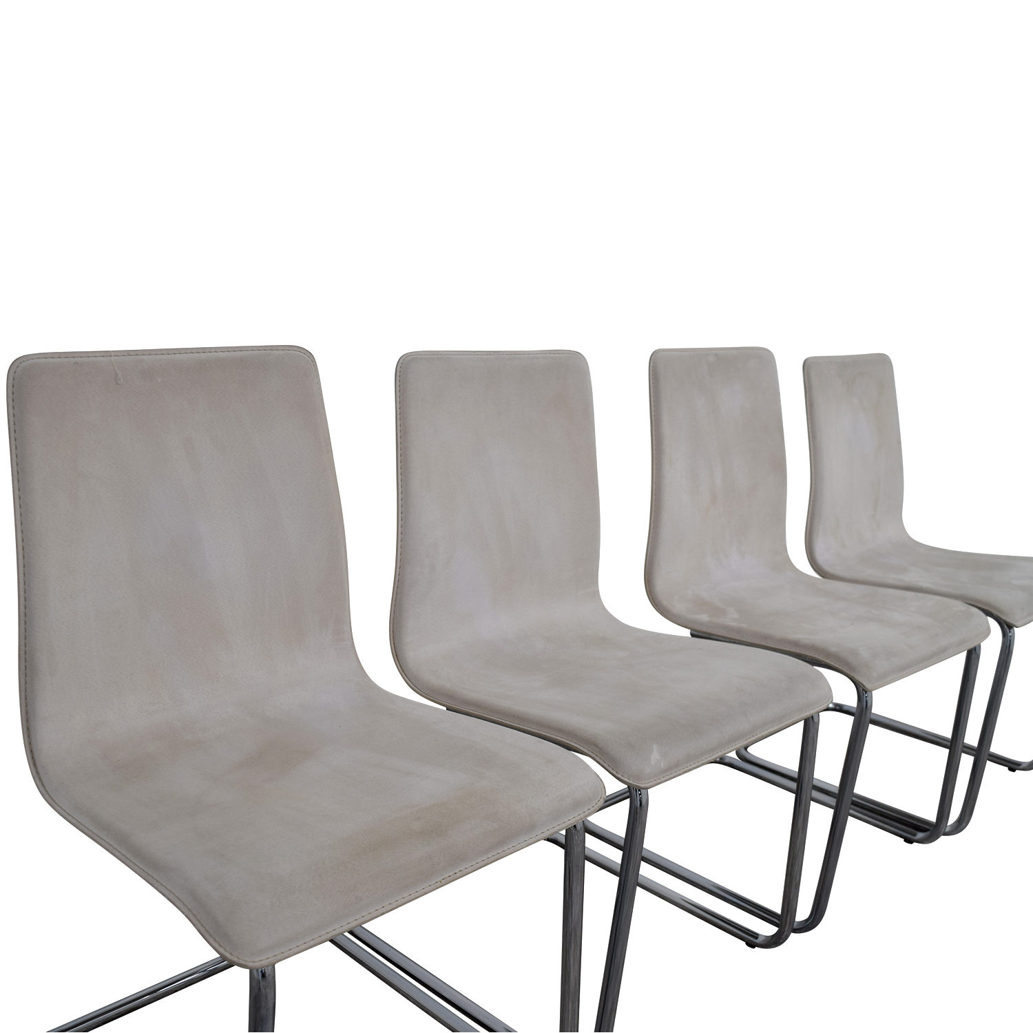 Beau CB2 Pony White Tweed Chairs CB2