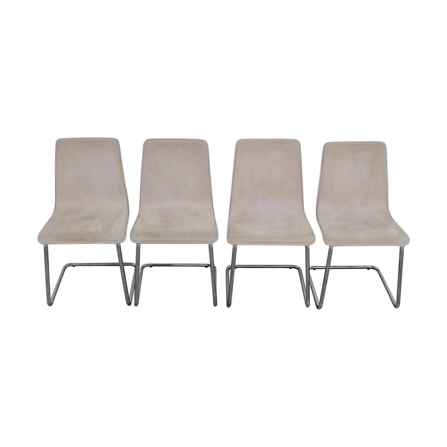 61 Off Cb2 Cb2 Pony White Tweed Chairs Chairs