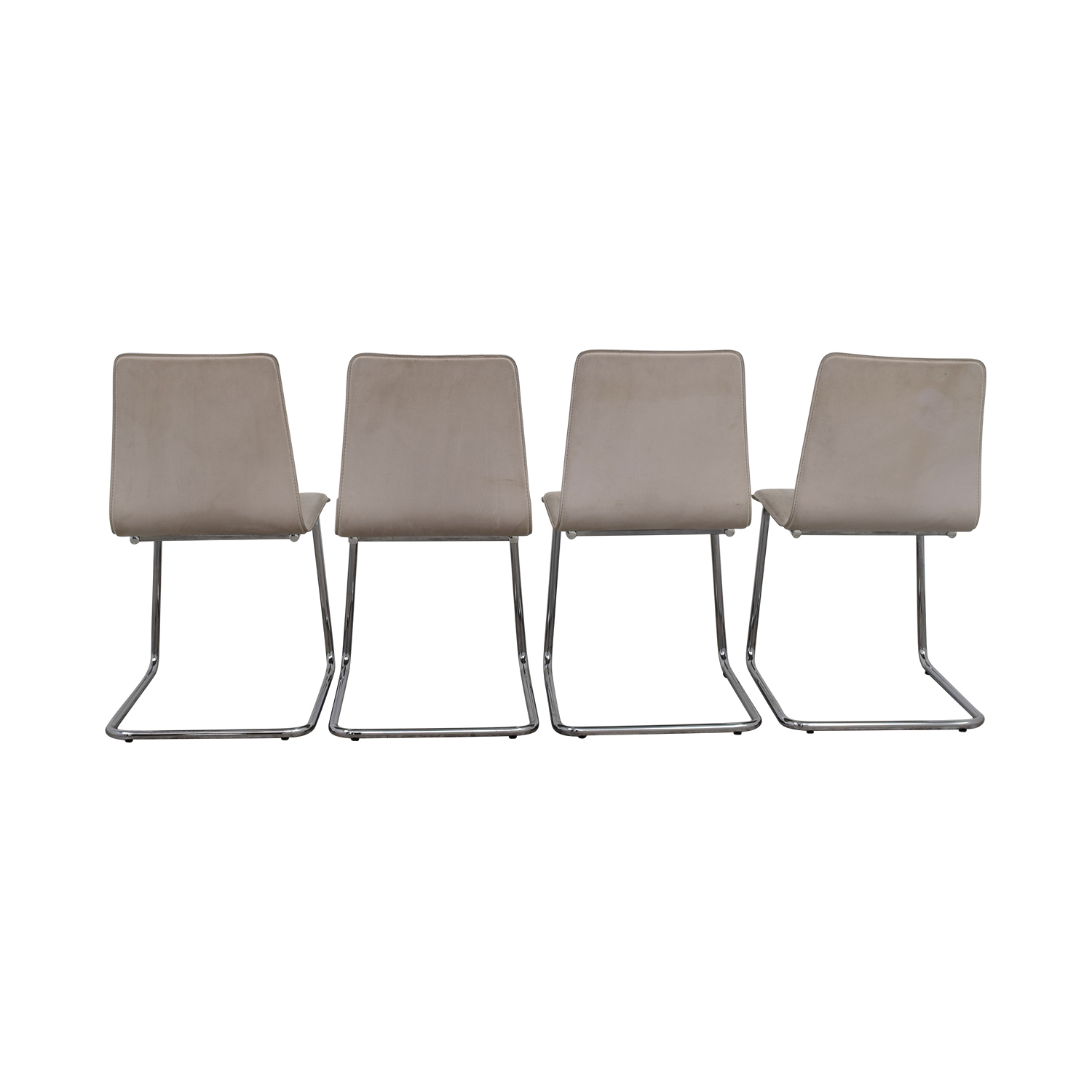 CB2 CB2 Pony White Tweed Chairs dimensions