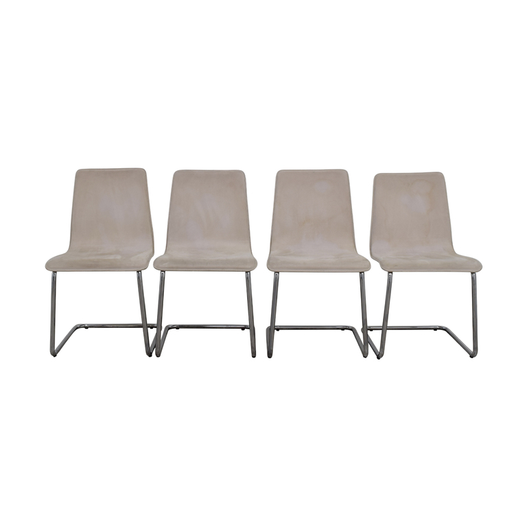 Delicieux CB2 CB2 Pony White Tweed Chairs For Sale