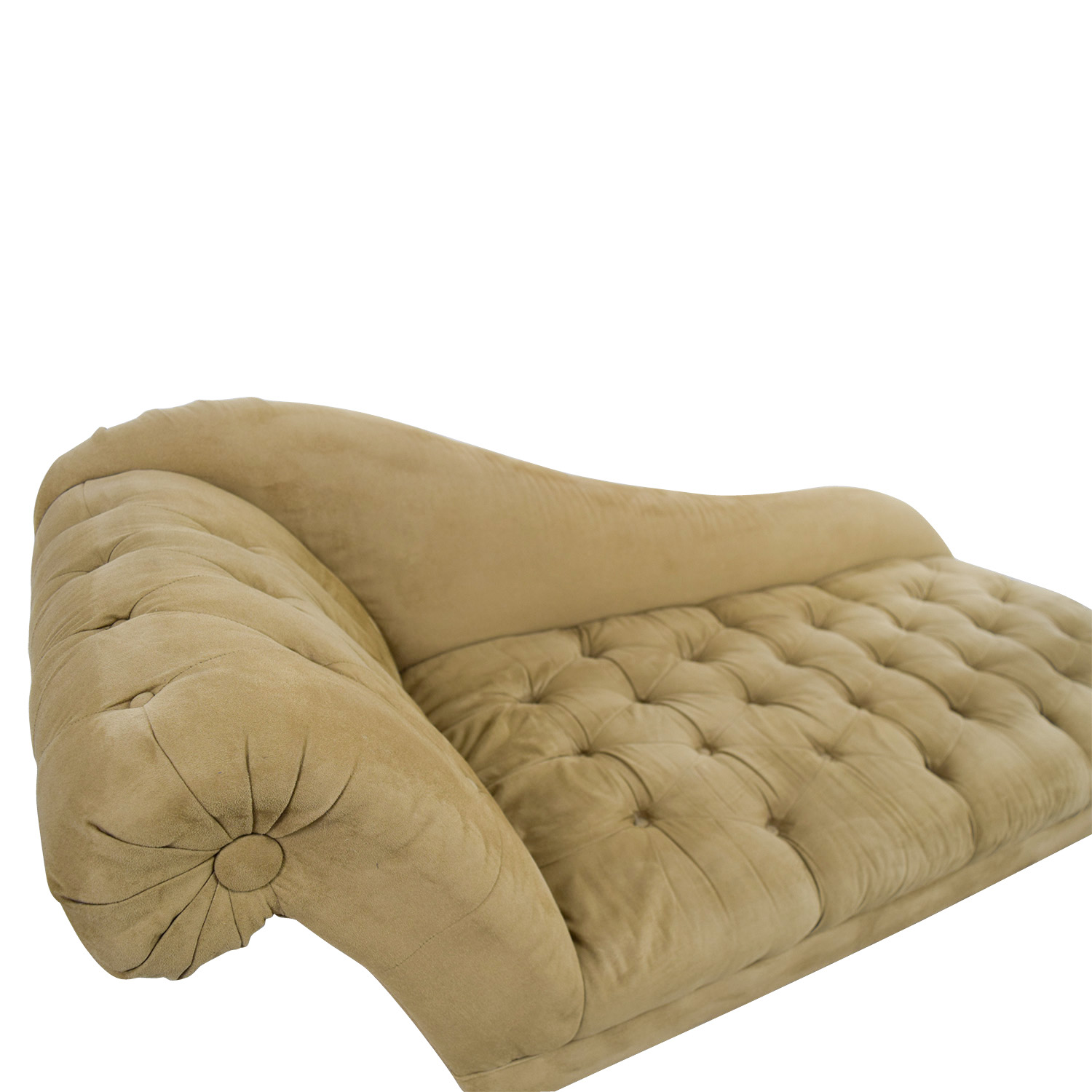 68 off tufted brown chaise lounge sofa sofas for Brown chaise lounge sofa