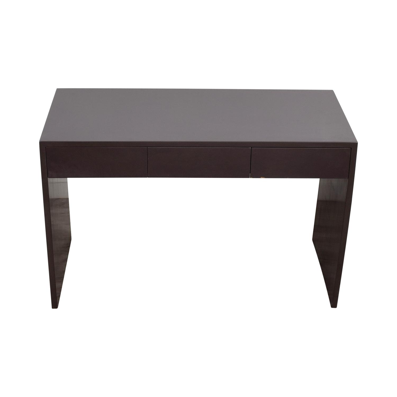 Grey Two-Drawer Desk Dark Grey
