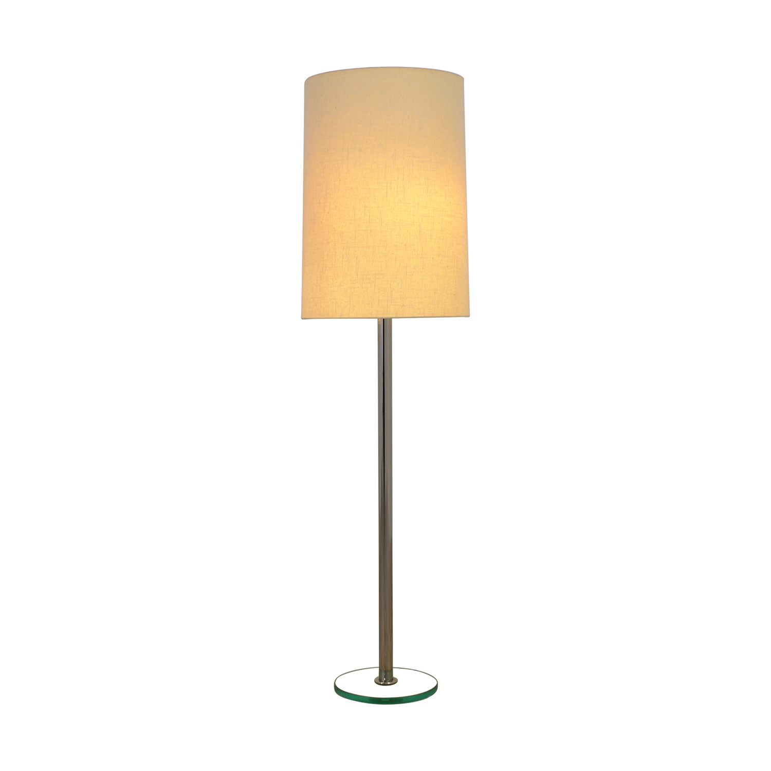 CB2 CB2 Silver with Ghost Base Floor Lamp for sale