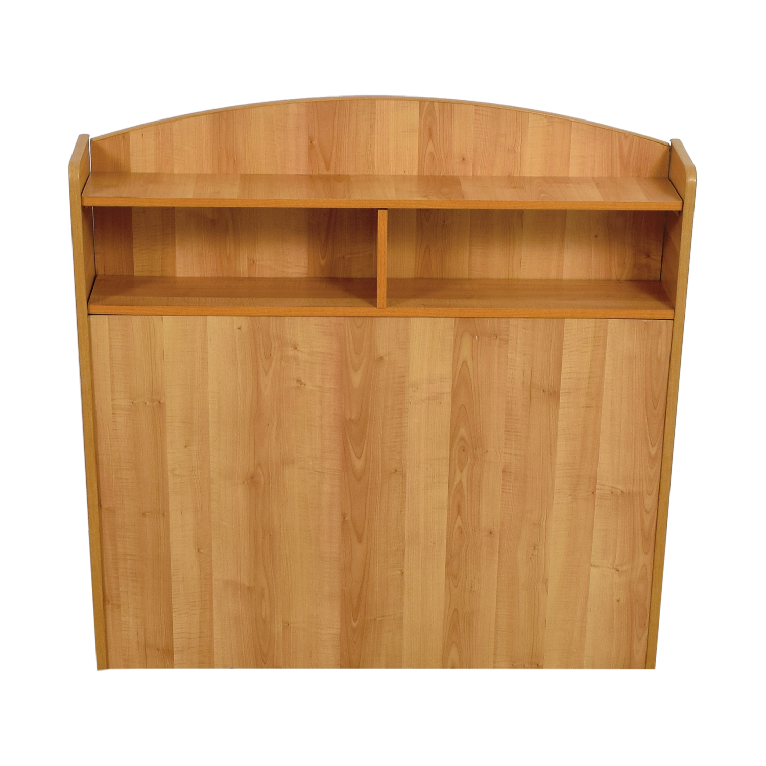 Captain Pine Wood Twin Headboard With Shelves