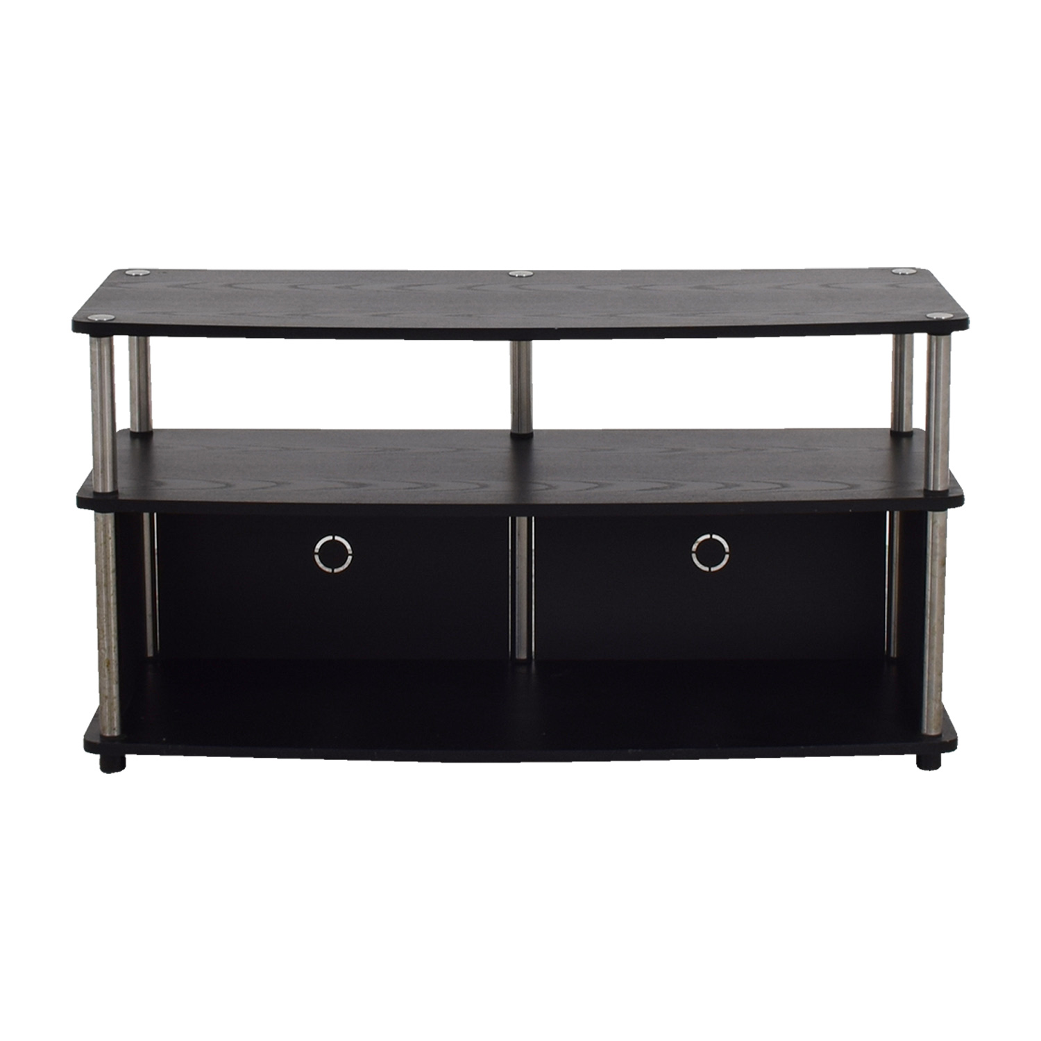 Black and Chrome Media Console on sale