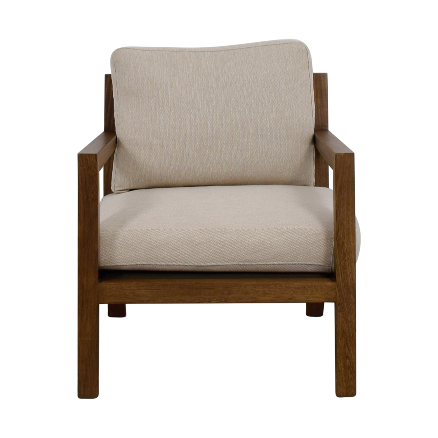 shop Zientte Niebla Beige Accent Chair Zientte Accent Chairs