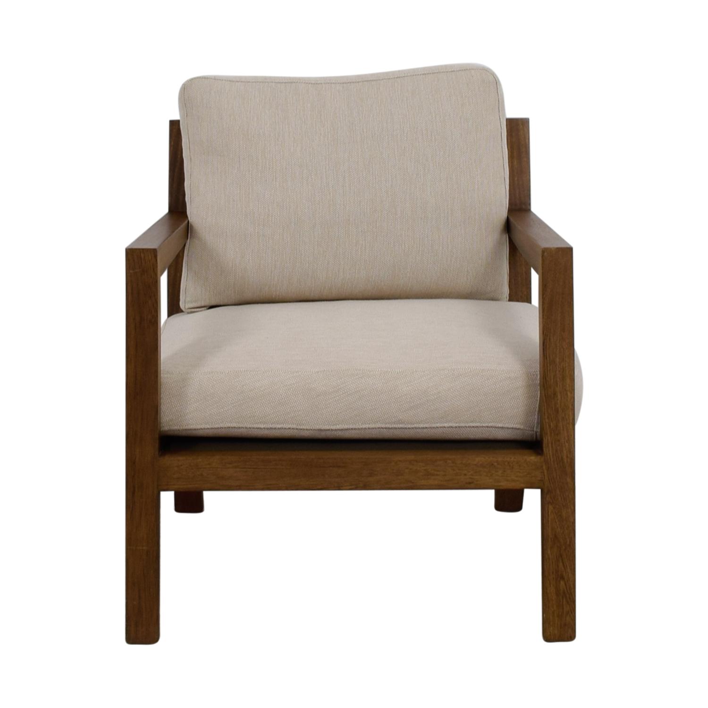 shop Zientte Niebla Beige Accent Chair Zientte Accent Chairs