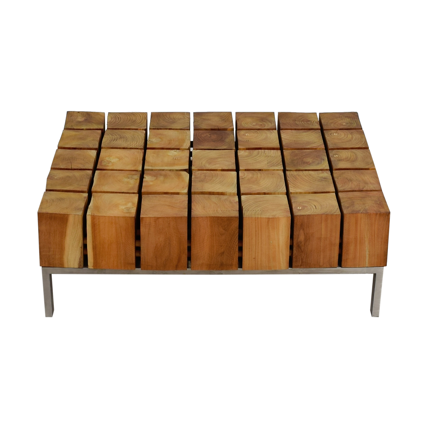 Zientte Zientte Mondo Cubed Wood Coffee Table nj