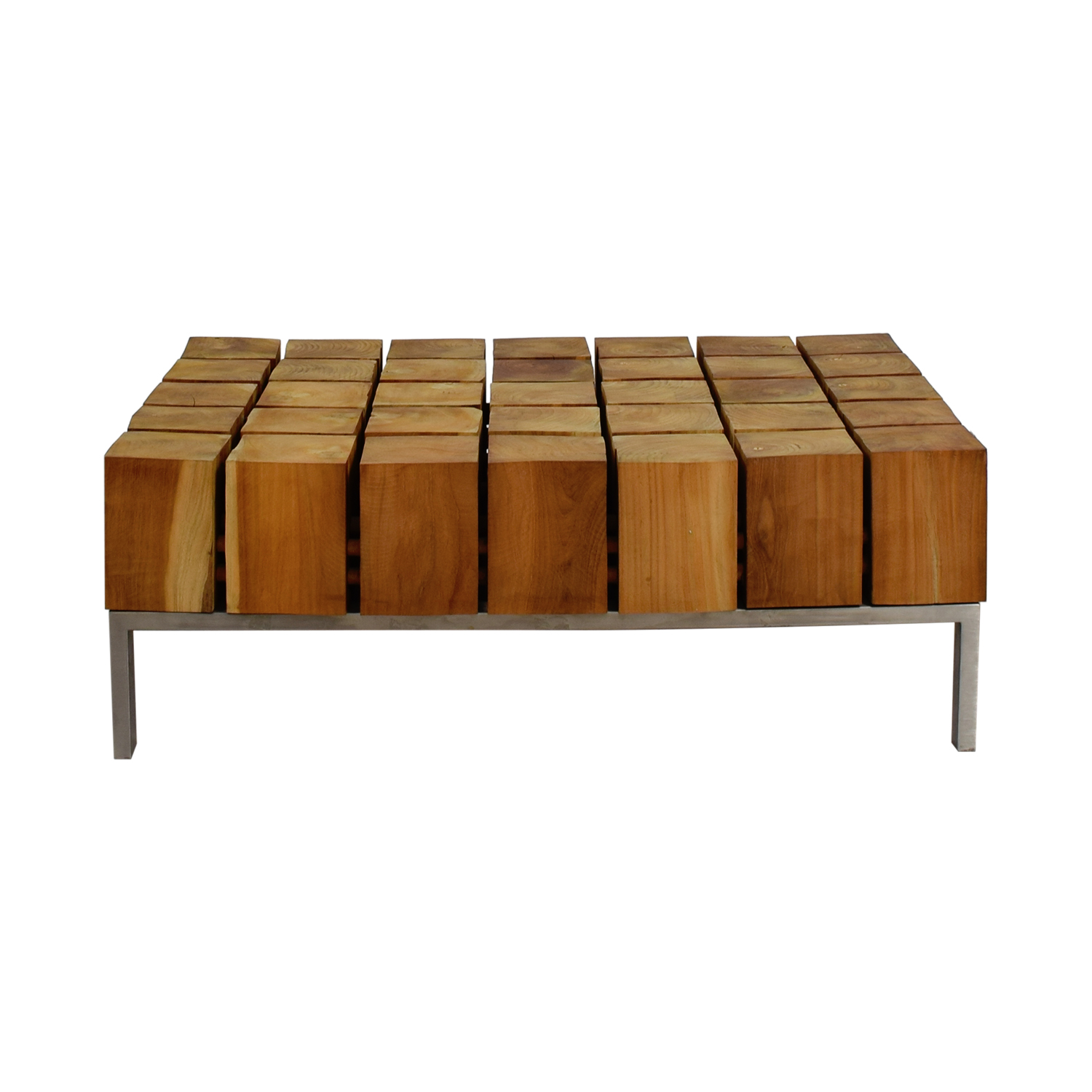 buy Zientte Mondo Cubed Wood Coffee Table Zientte