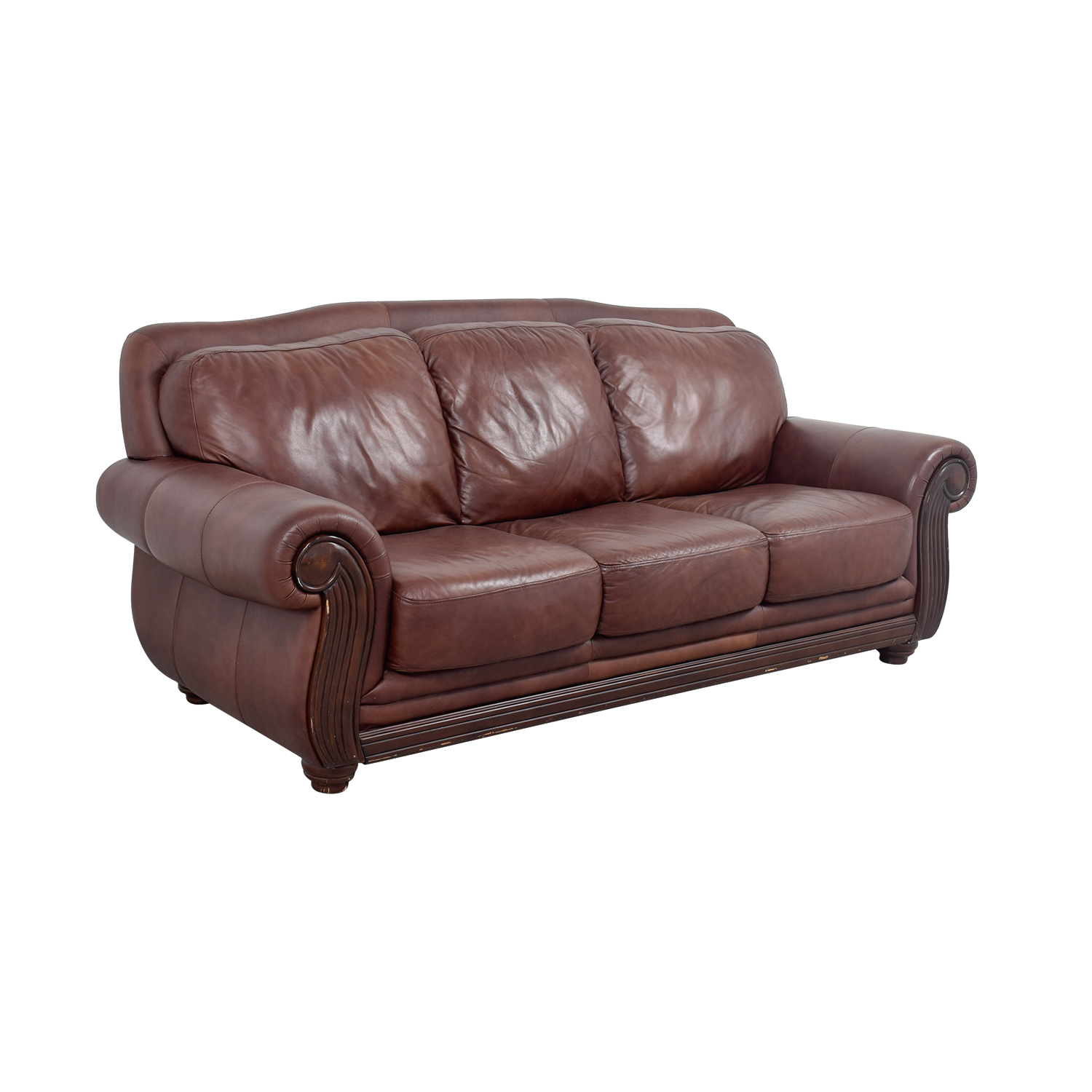 Leather Recliner Sofa Rooms To Go: Rooms To Go Rooms To Go Brown Three -Cushion