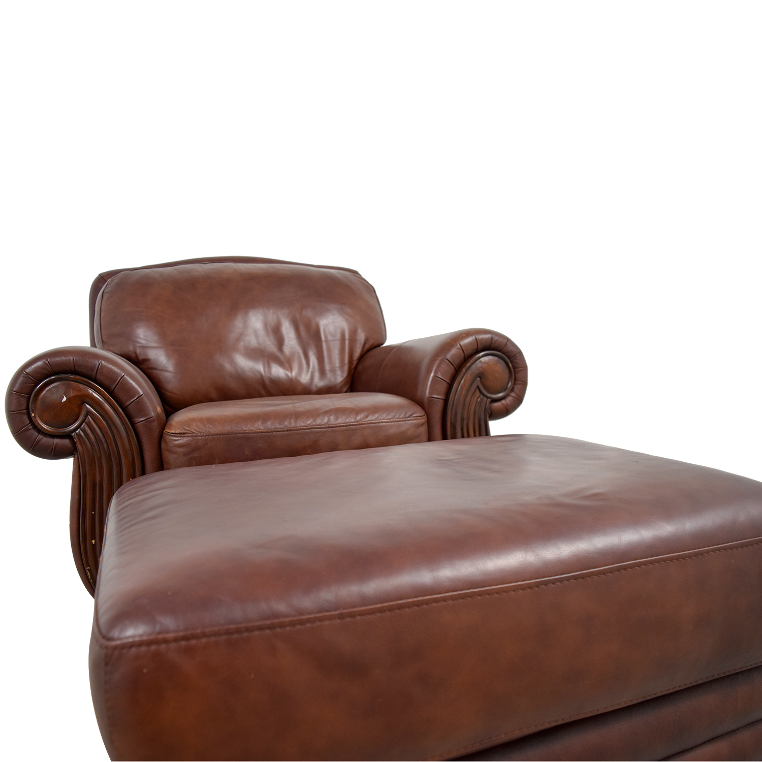 Rooms To Go Rooms To Go Brown Leather Chair And