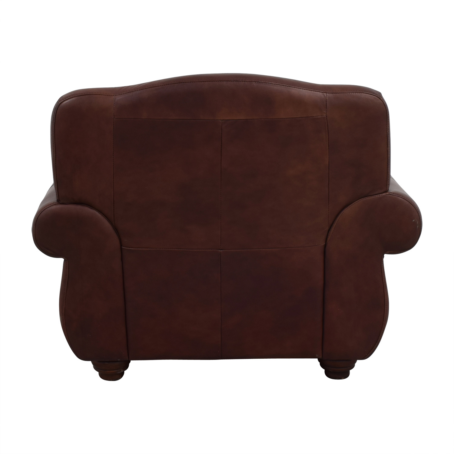 Rooms To Go Rooms To Go Brown Leather Accent Chair