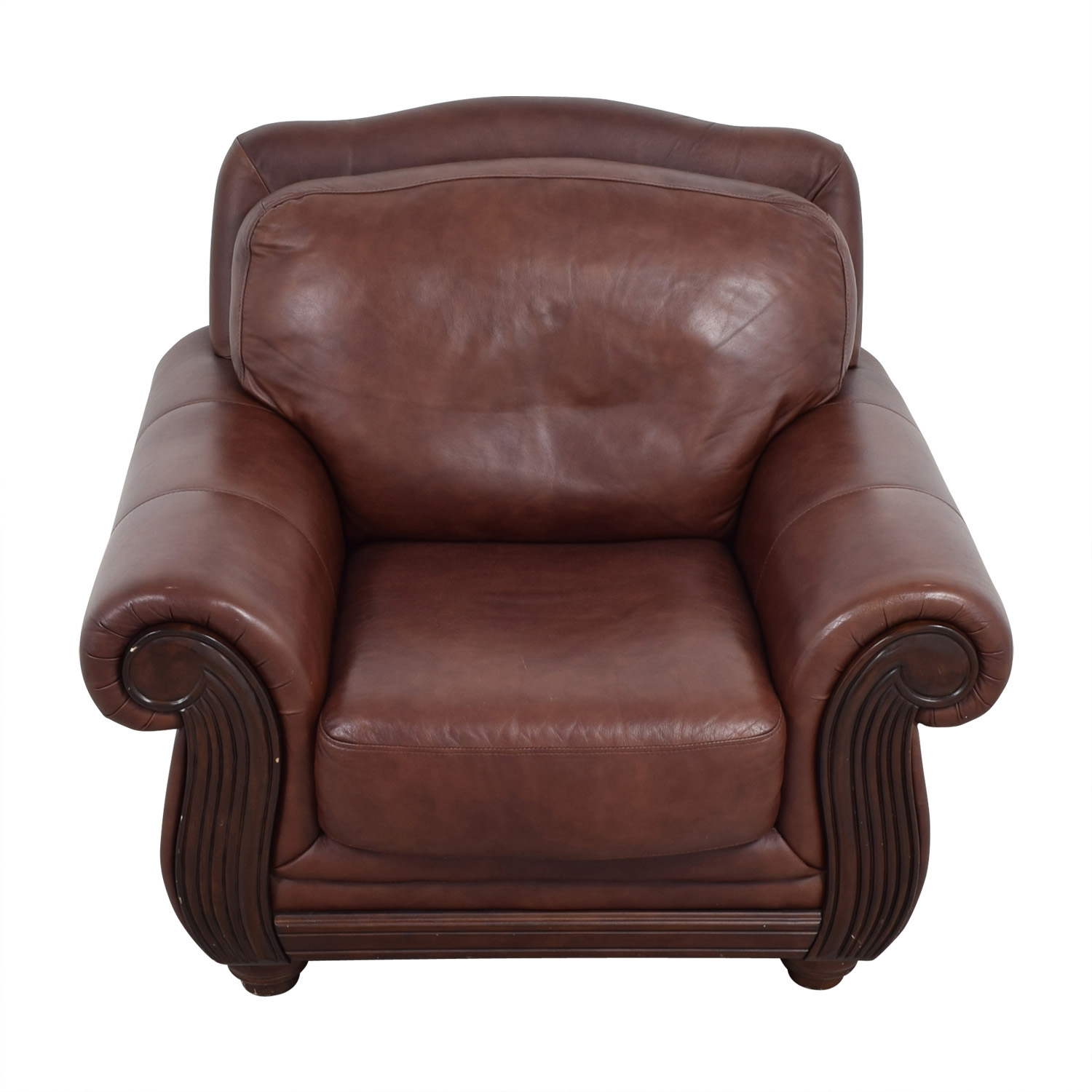 69 Off Rooms To Go Rooms To Go Brown Leather Accent