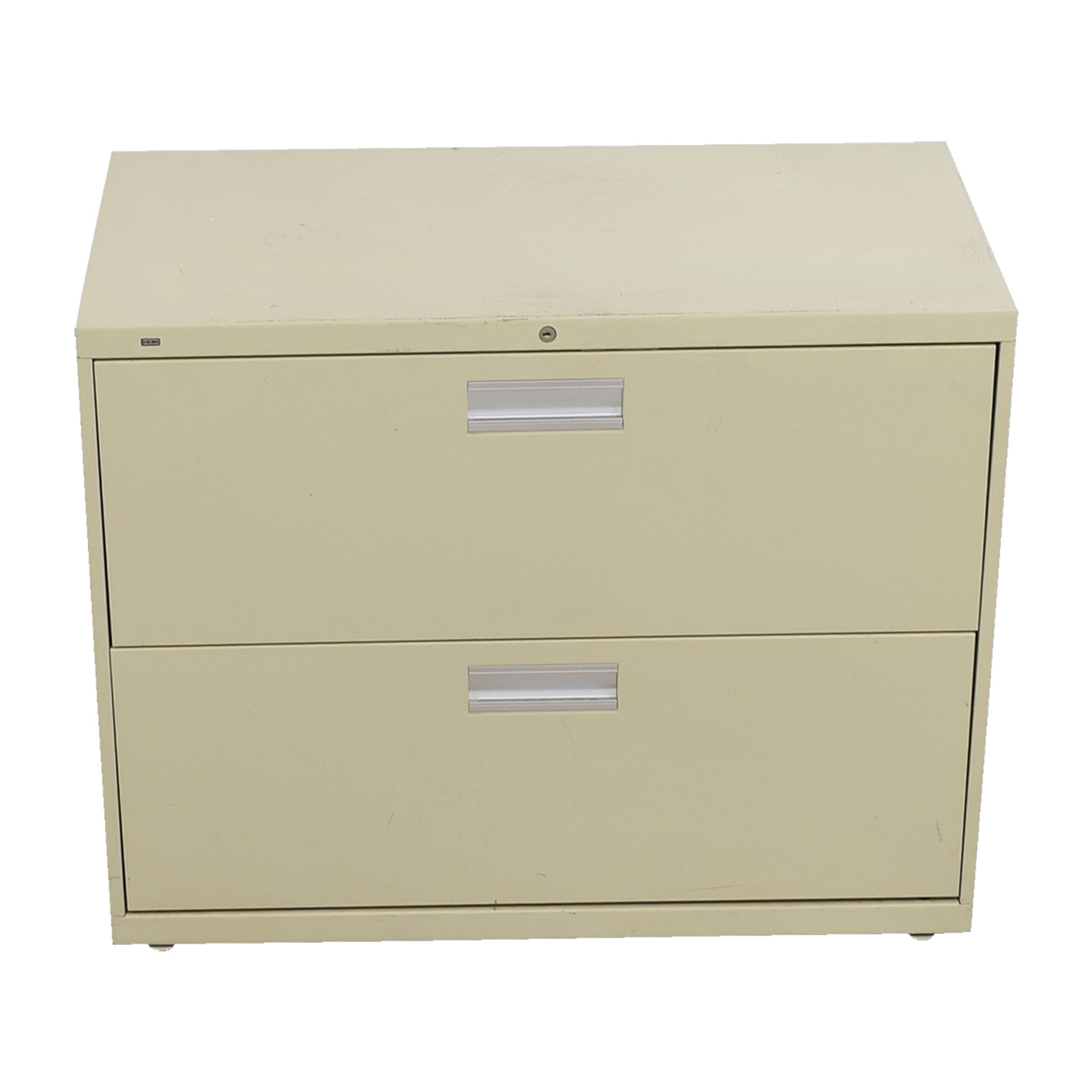Metal Two-Drawer Filing Cabinet for sale