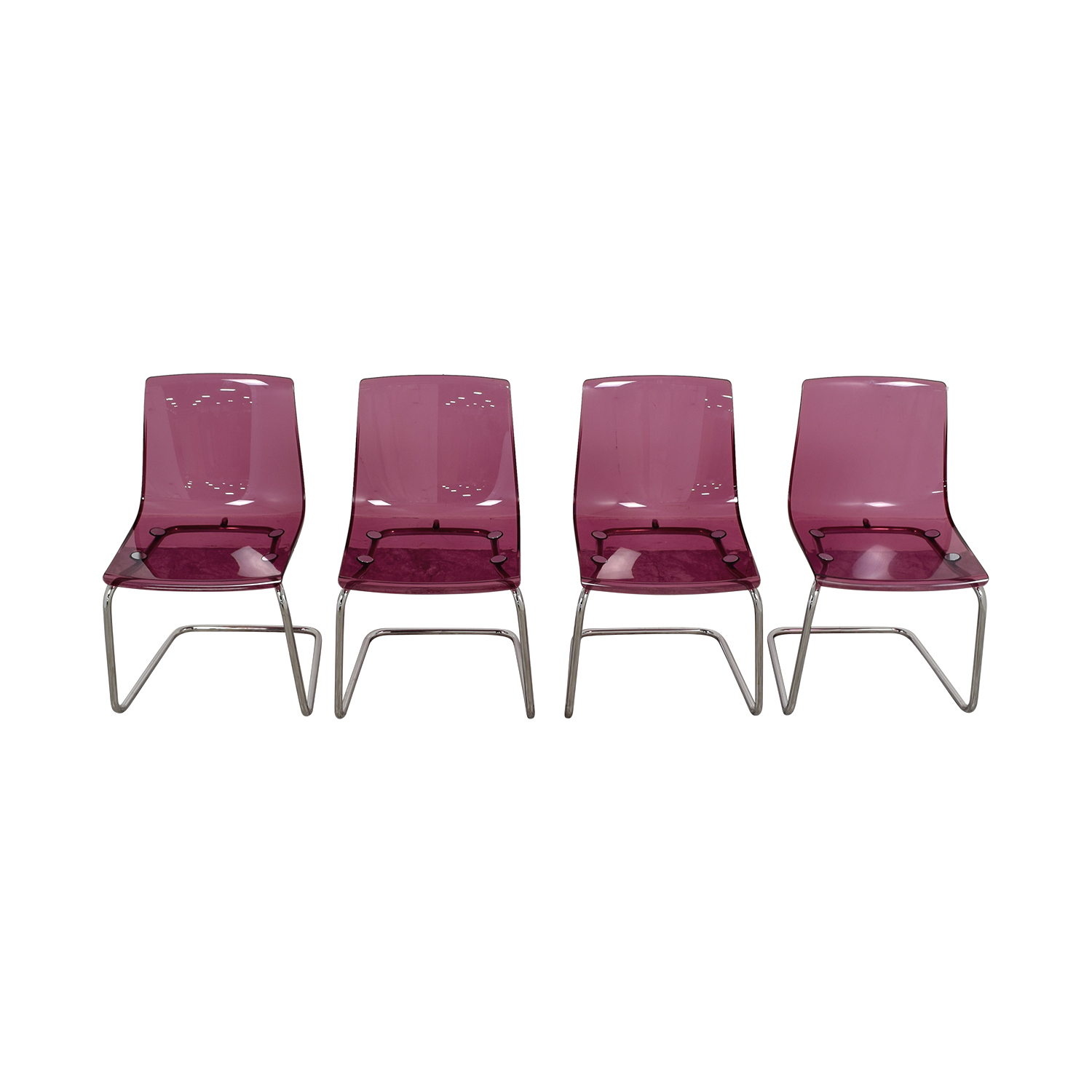 Ikea Transparent Lavender Dining Chairs