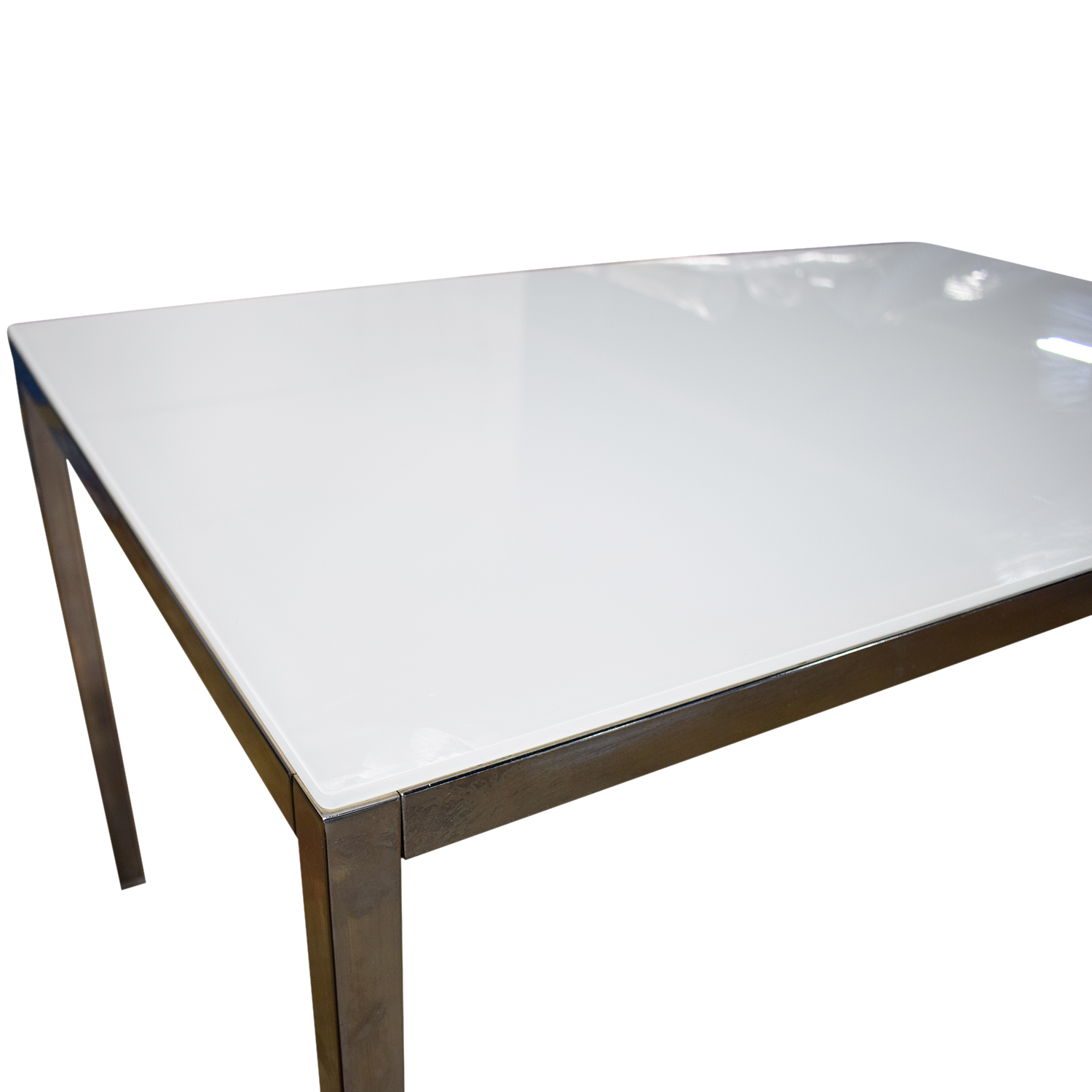 White Dining Table Ikea: IKEA IKEA White Top And Chrome Base Dining Table
