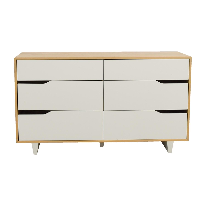 Charmant 46% OFF   IKEA IKEA Askvoll White And Wood Six Drawer Dresser / Storage