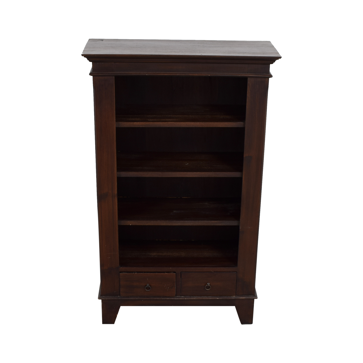 buy Crate & Barrel Two-Drawer Wood Book Shelf Crate & Barrel
