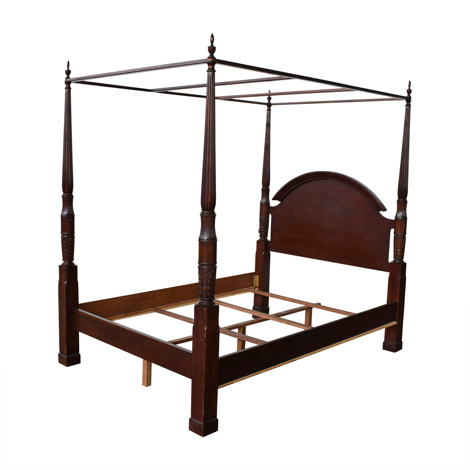 83 Off Wood Four Poster Canopy Bed Frame Beds