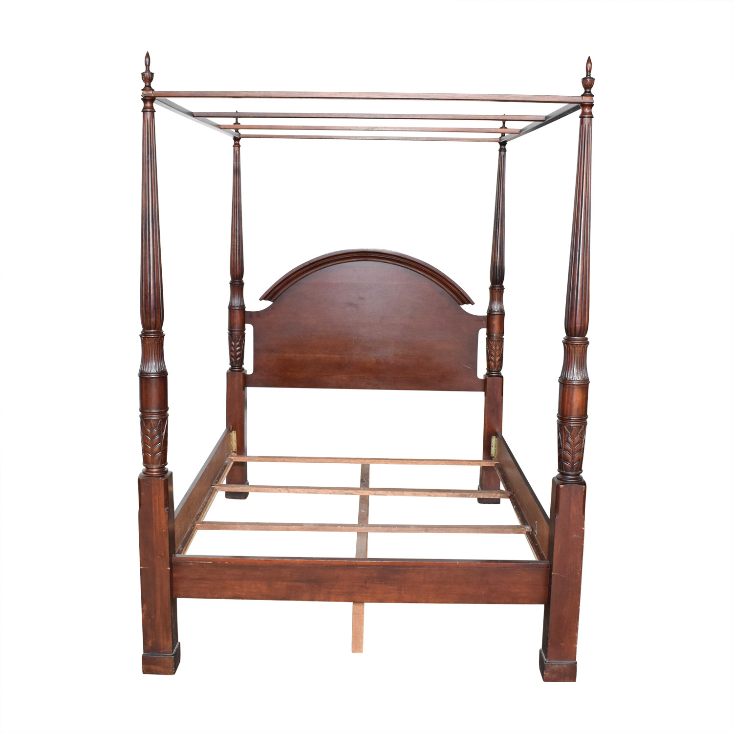 Wood Four Poster Canopy Bed Frame / Sofas