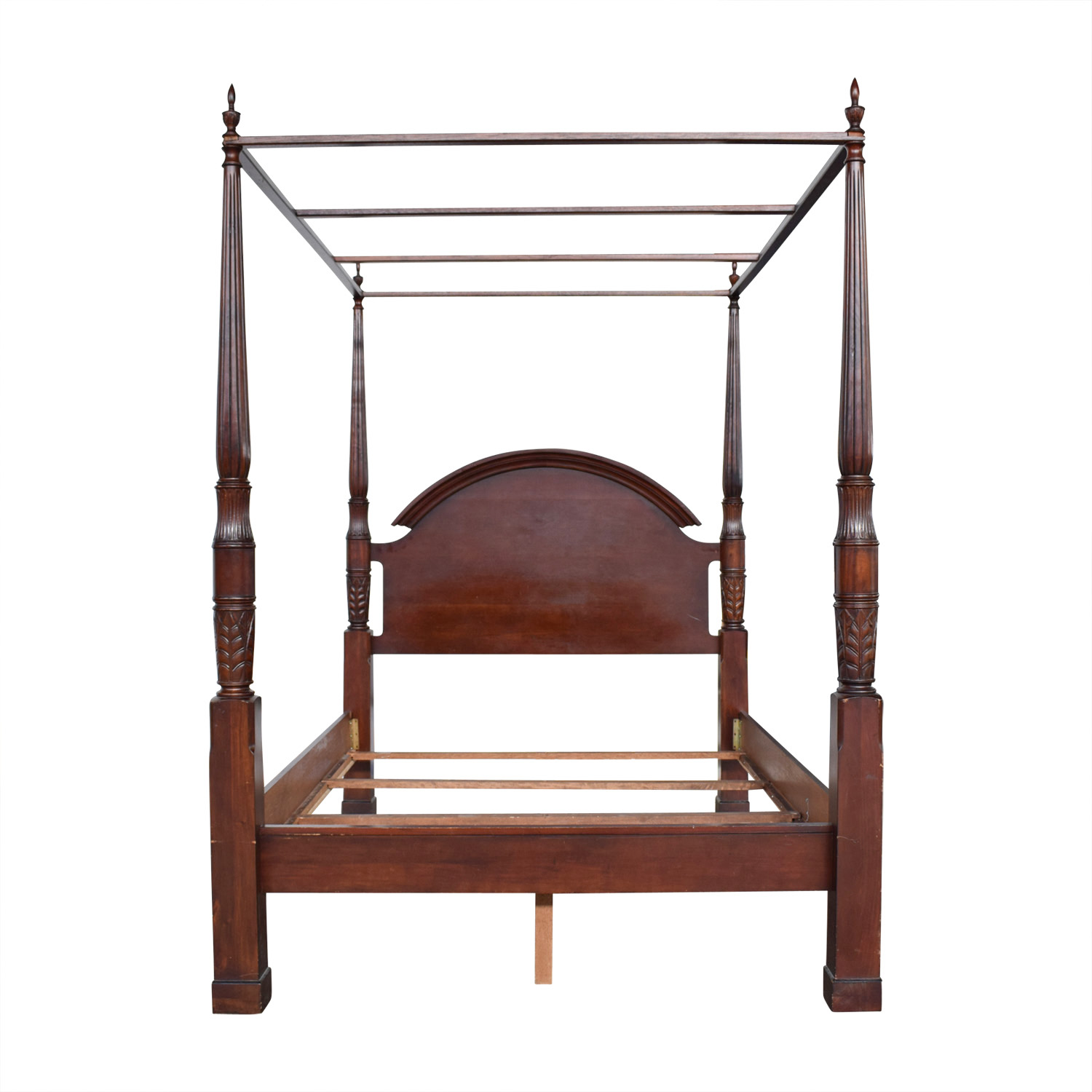 buy Wood Four Poster Canopy Bed Frame