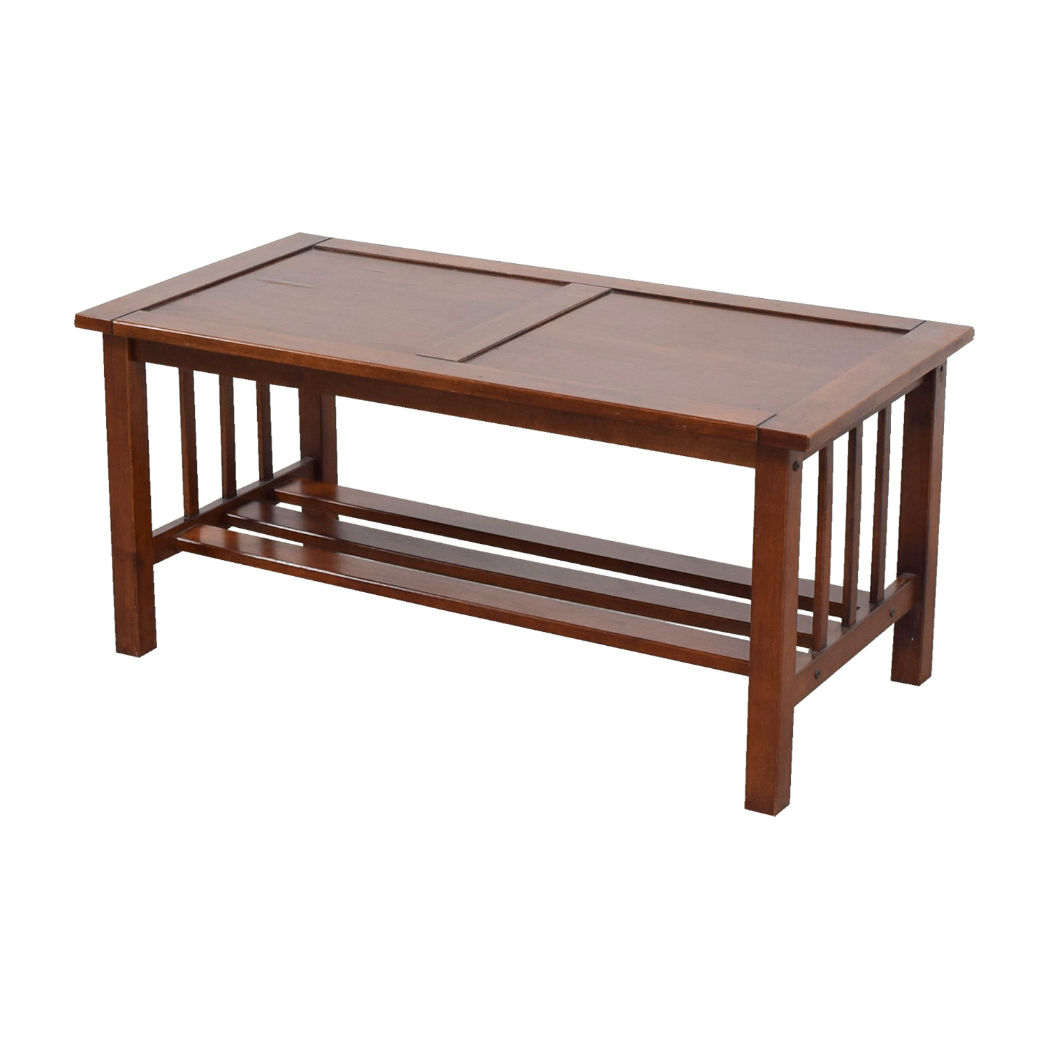 OFF Caged Wood Coffee Table Tables