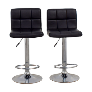 Homall Homall Adjustable Swivel Black Bonded Leather Barstools dimensions