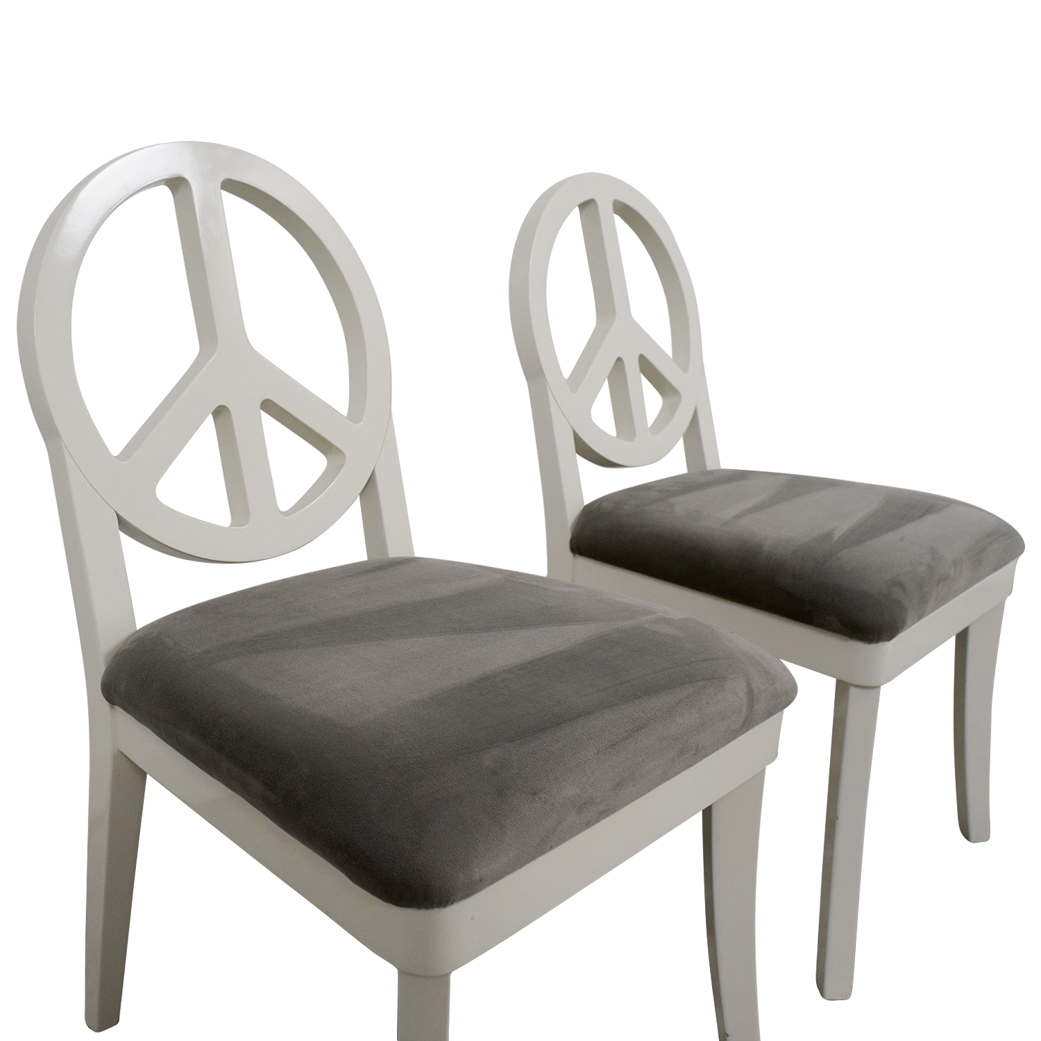 Genial ... Happy Chic By Jonathan Adler Happy Chic By Jonathan Adler White And  Grey Peace Sign Accent ...