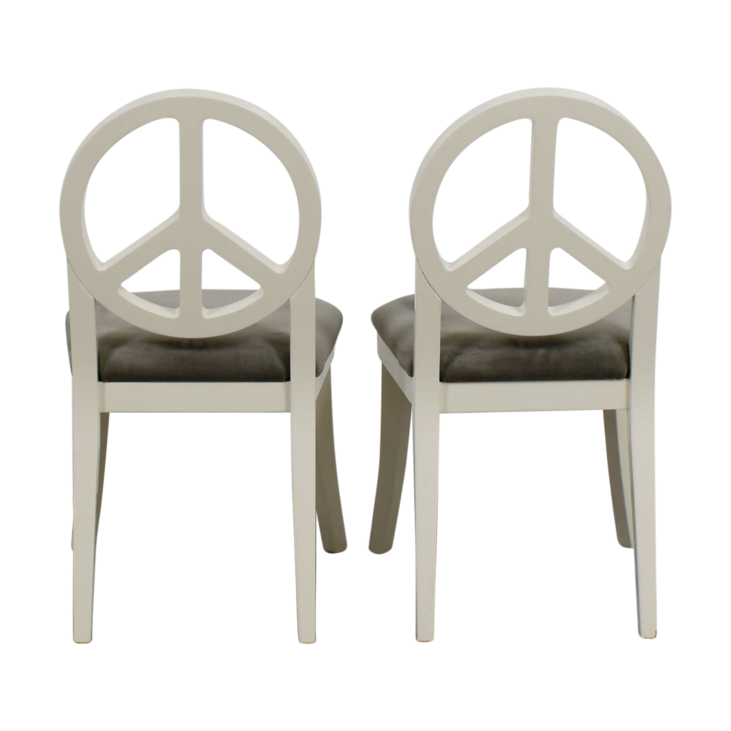 buy Happy Chic by Jonathan Adler White and Grey Peace Sign Accent Chairs Happy Chic by Jonathan Adler