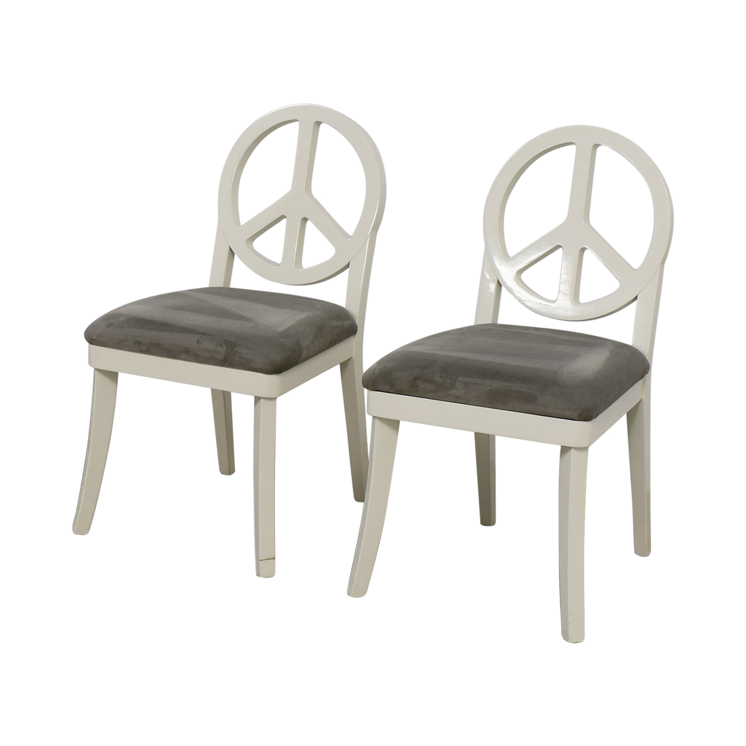 Merveilleux ... Happy Chic By Jonathan Adler Happy Chic By Jonathan Adler White And  Grey Peace Sign Accent ...