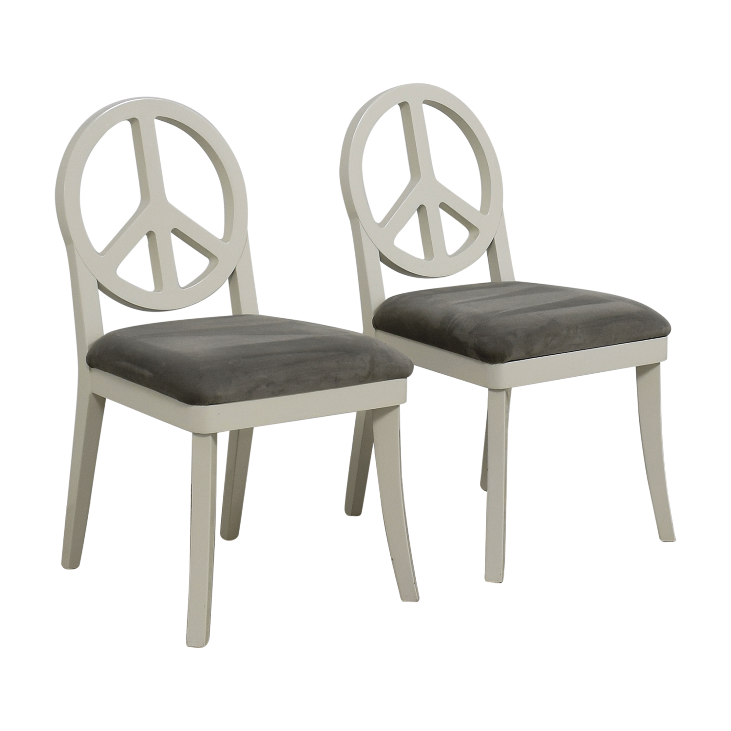 ... Happy Chic By Jonathan Adler Happy Chic By Jonathan Adler White And  Grey Peace Sign Accent ...