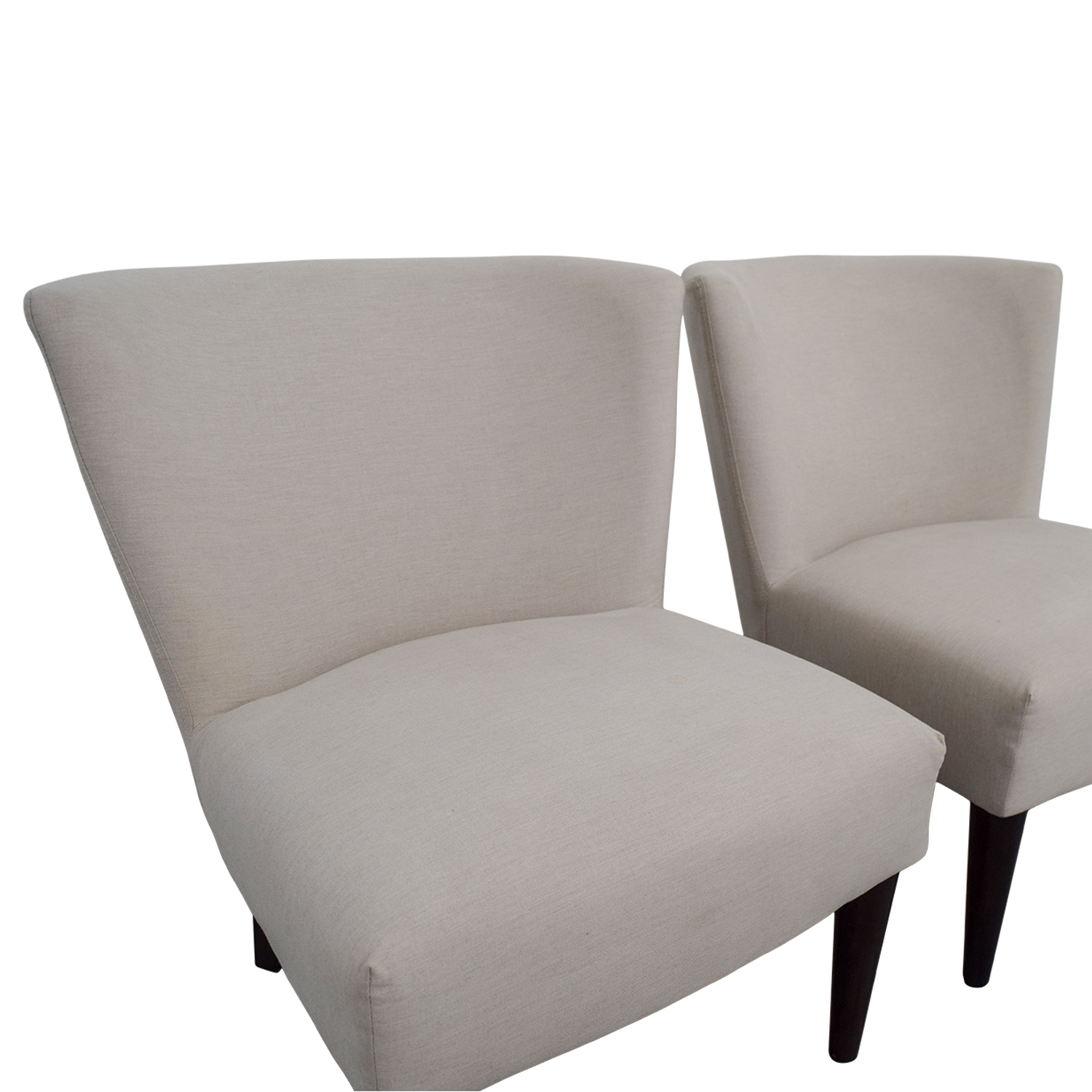 West Elm West Elm Retro Cream Chairs Chairs