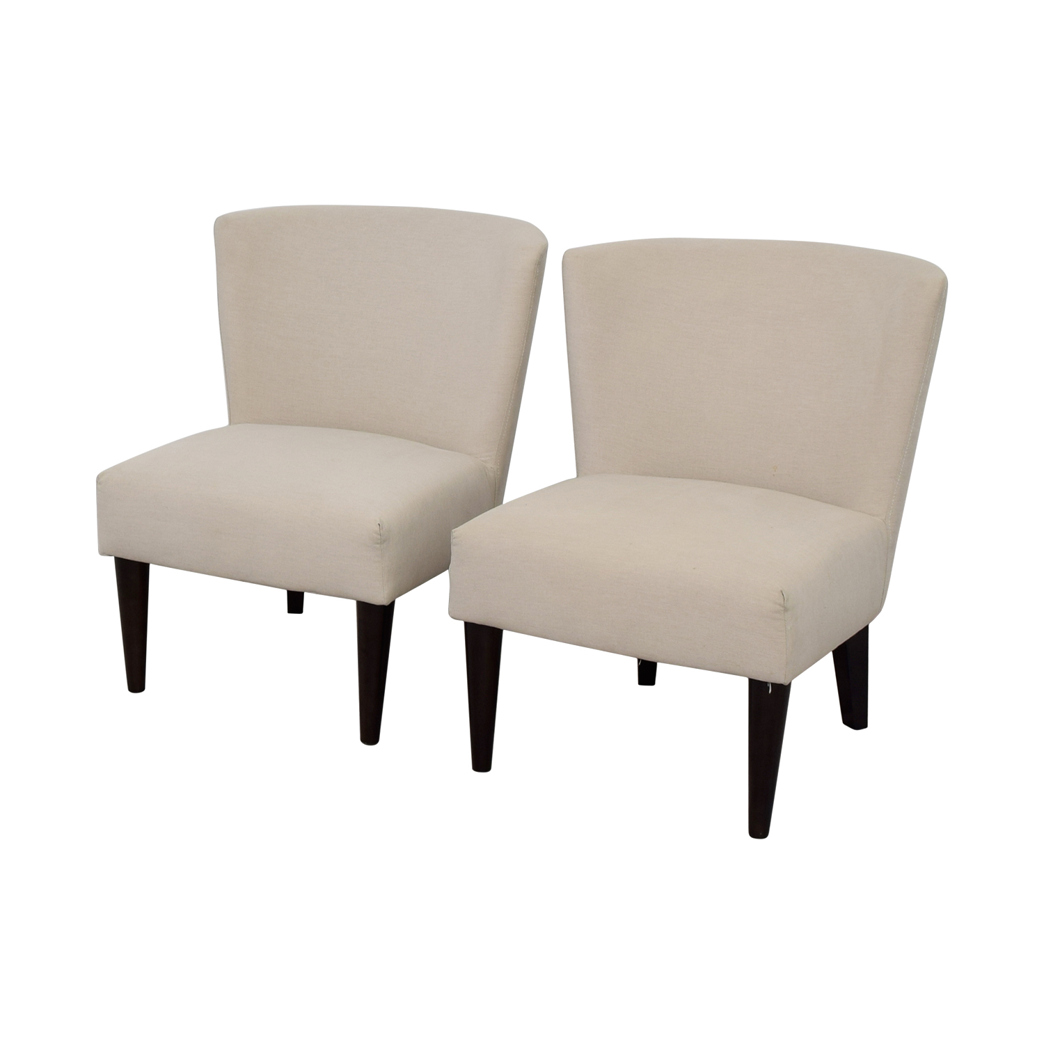 West Elm West Elm Retro Cream Chairs coupon