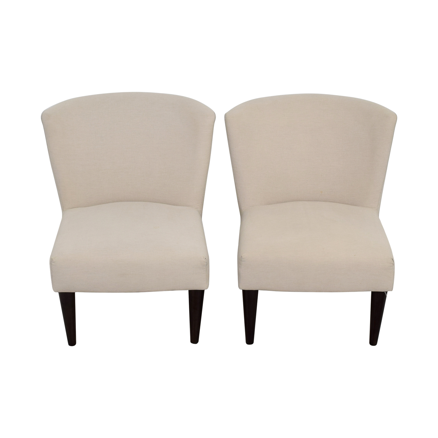 West Elm West Elm Retro Cream Chairs nyc