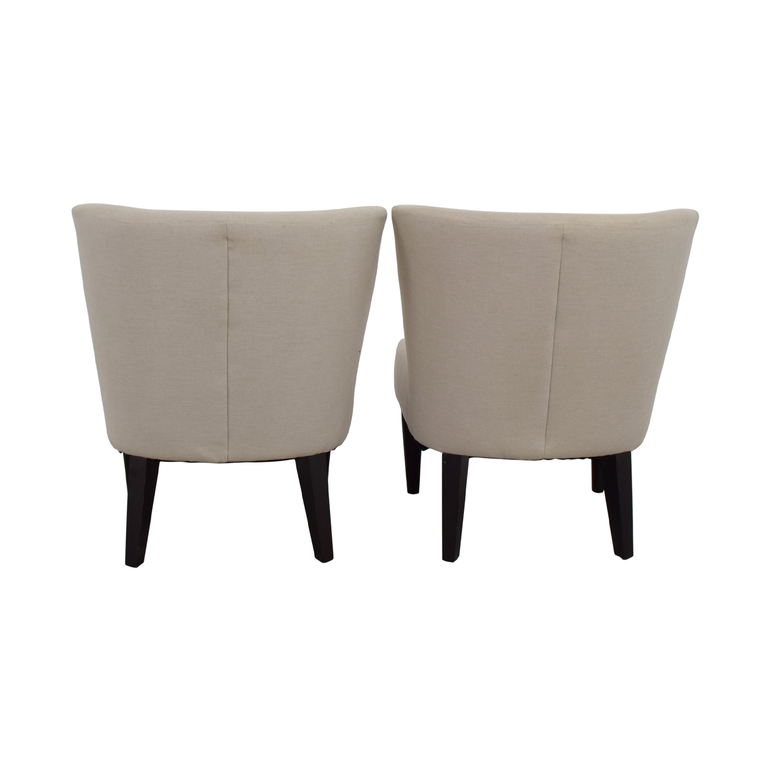 West Elm West Elm Retro Cream Chairs second hand