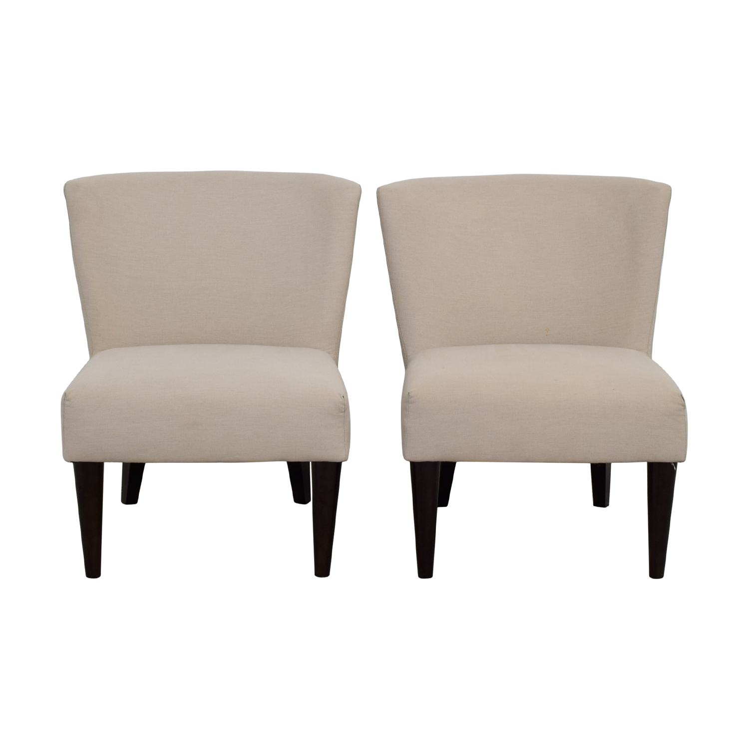 shop West Elm Retro Cream Chairs West Elm Dining Chairs
