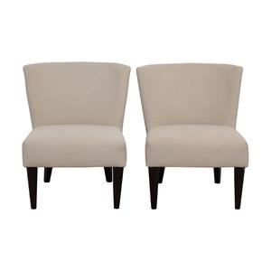 West Elm West Elm Retro Cream Chairs