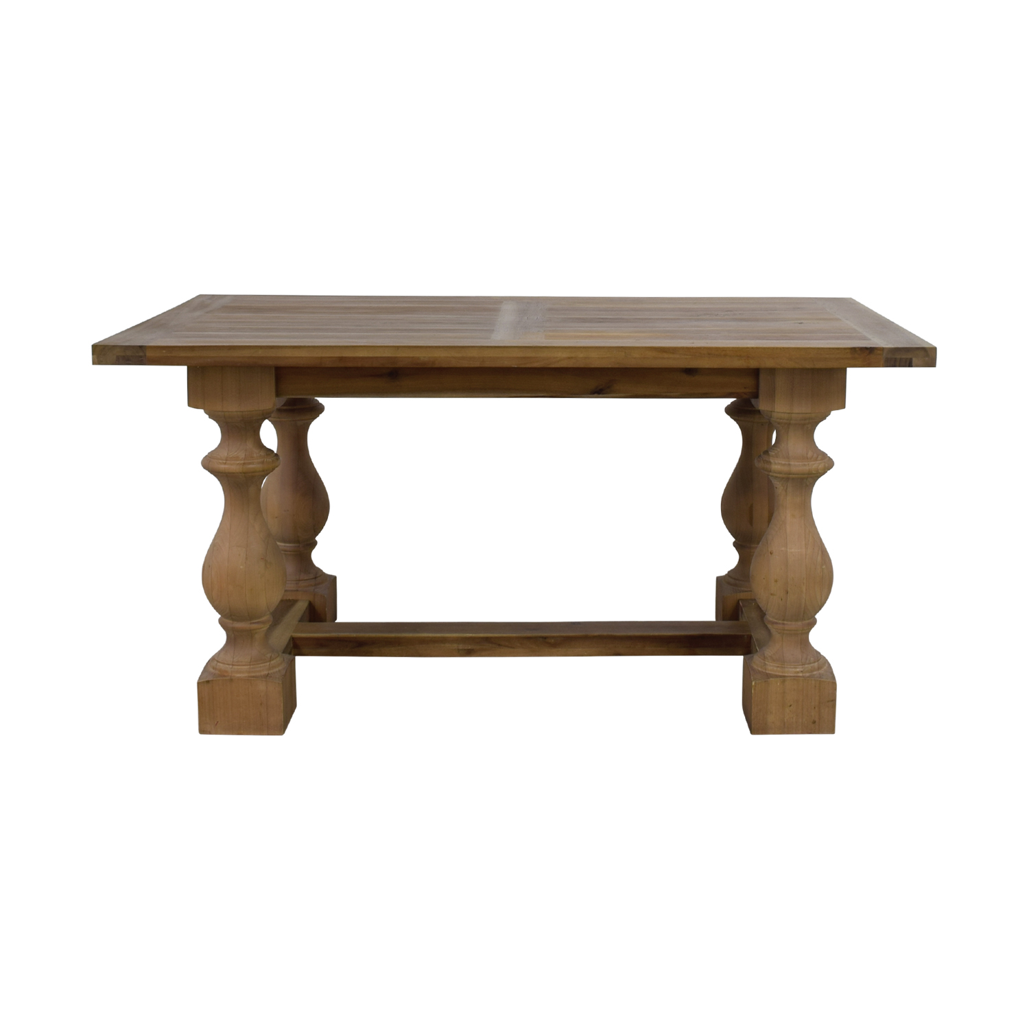 Restoration Hardware Restoration Hardware 17th Century Monastery Gray Acacia Dining Table second hand