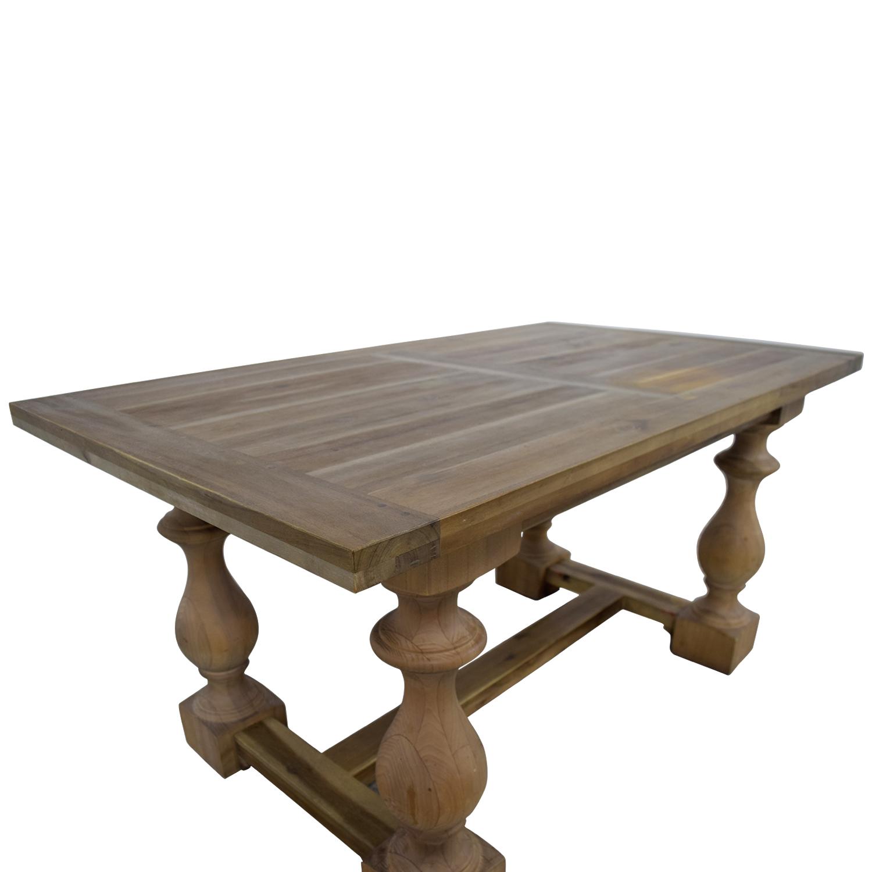 73 Off Restoration Hardware Restoration Hardware 17th Century Monastery Gray Acacia Dining Table Tables