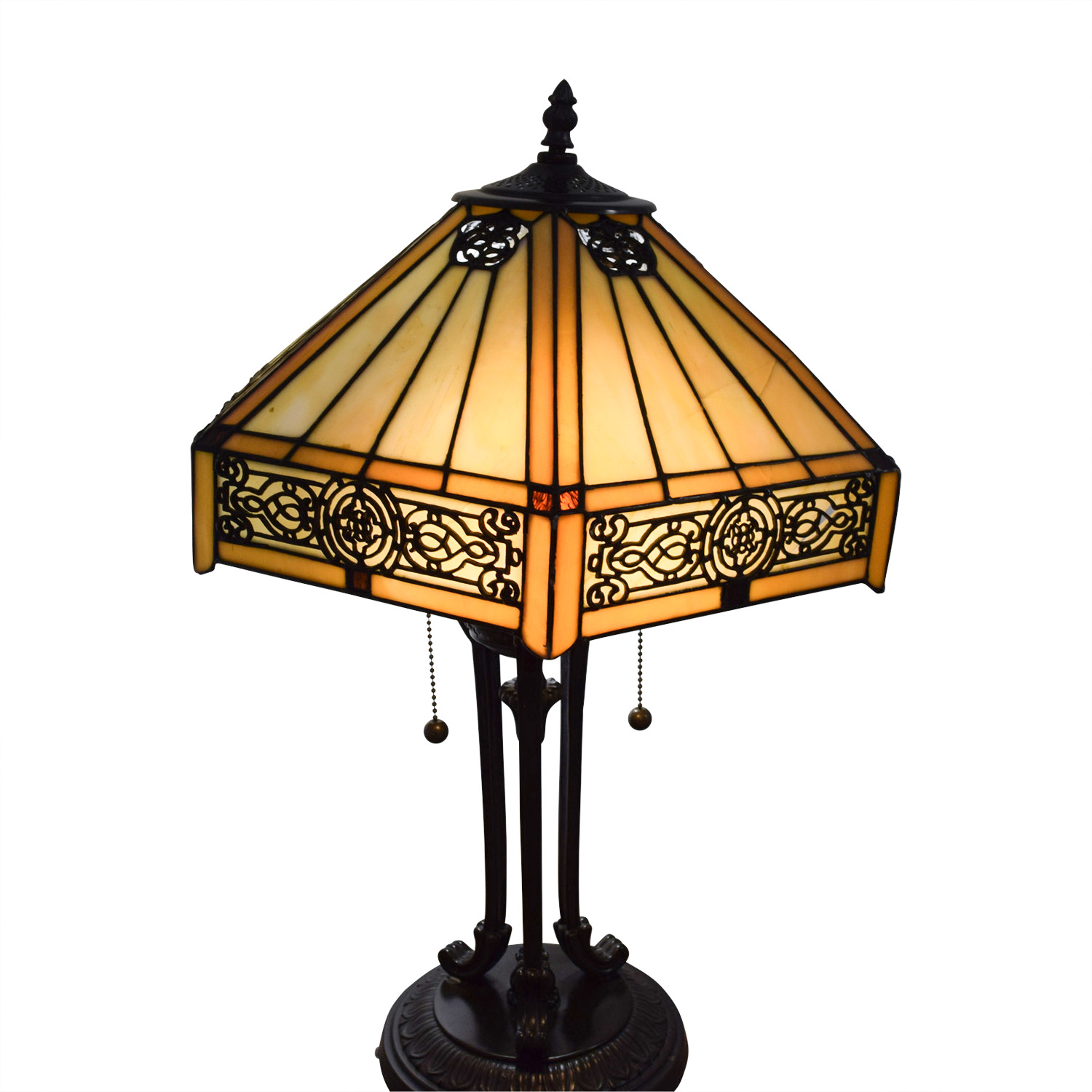 ... Stained Glass Tiffany Style Side Table Lamp Sale ...