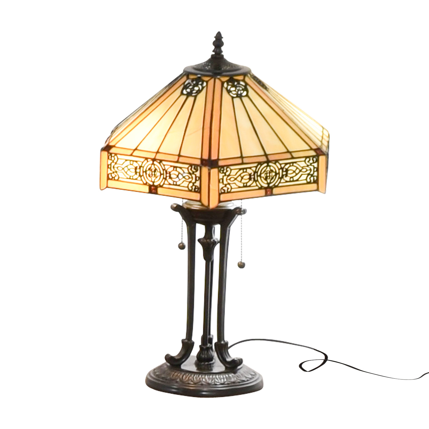 86 off stained glass tiffany style side table lamp decor Decorating end tables without lamps