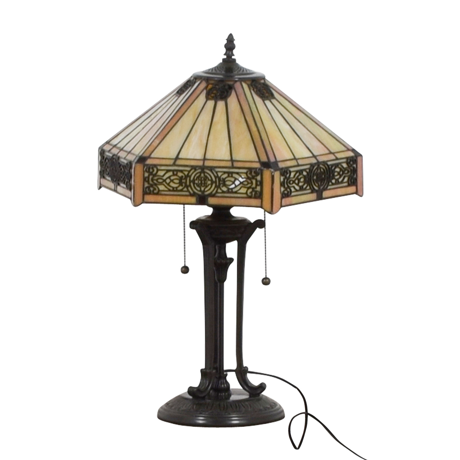 Stained Glass Tiffany Style Side Table Lamp discount
