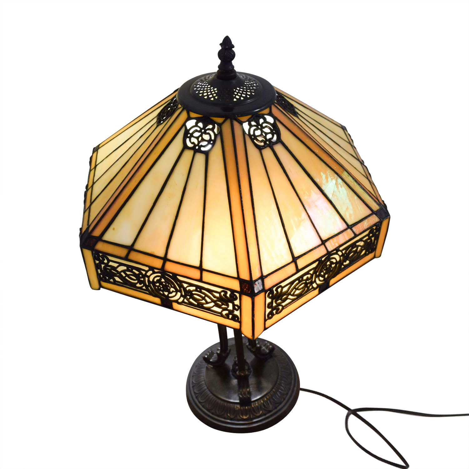 83 off stained glass tiffany style side table lamp decor Tiffany style table lamp