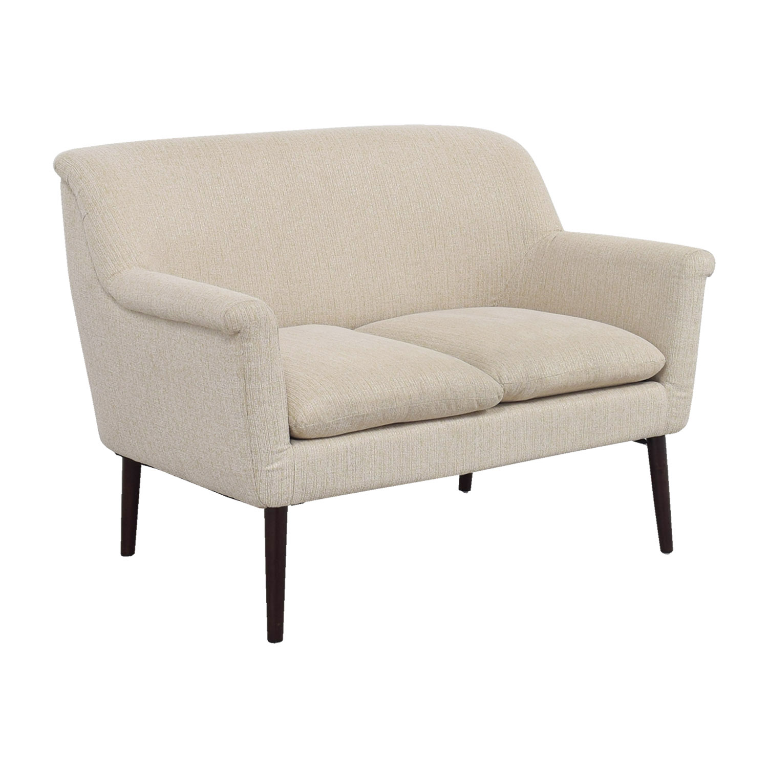 shop Madison Park Davenport Beige Rolled-Arm Settee Madison Park Davenport