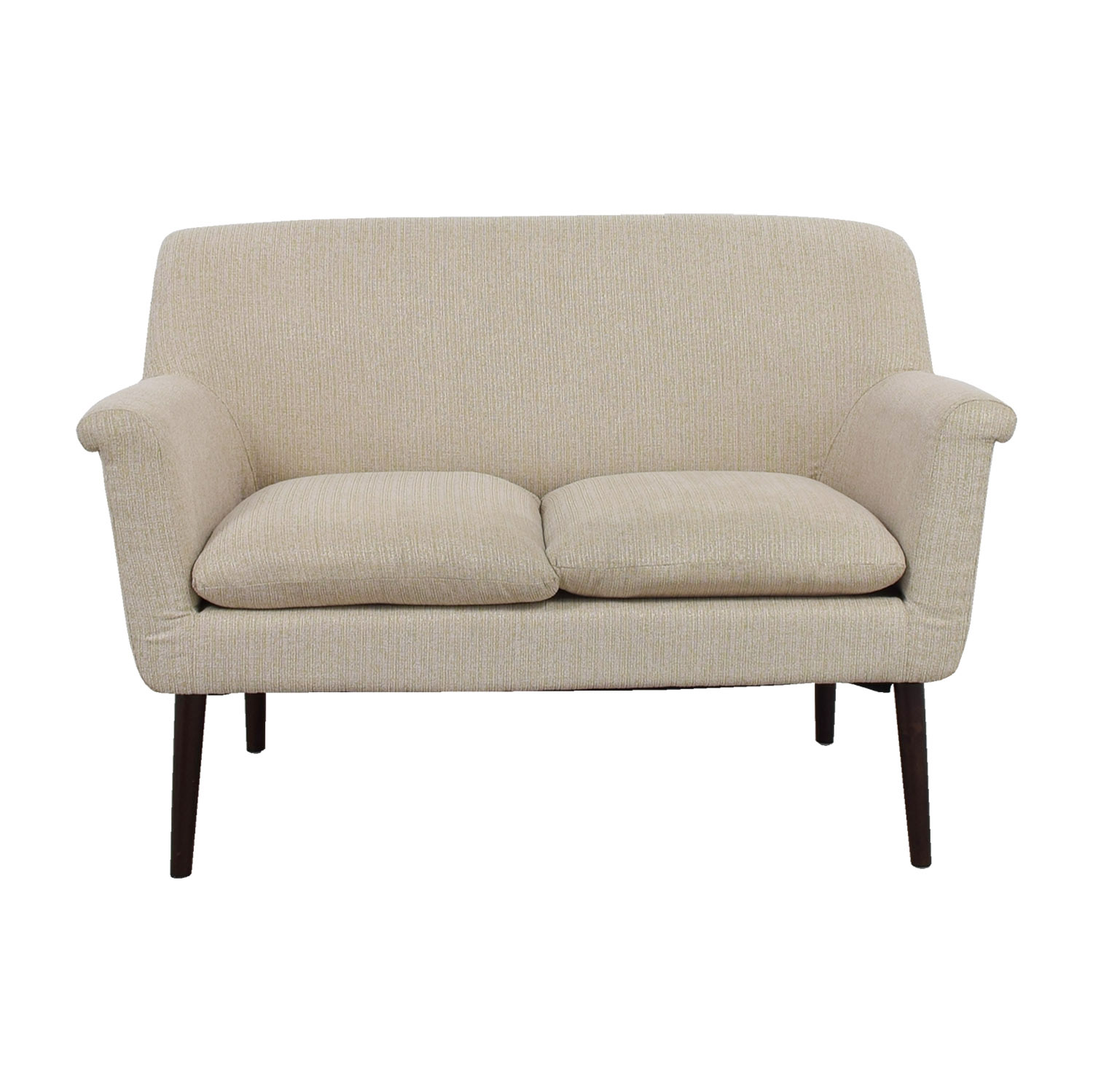 shop Madison Park Davenport Beige Rolled-Arm Settee Madison Park Davenport Loveseats